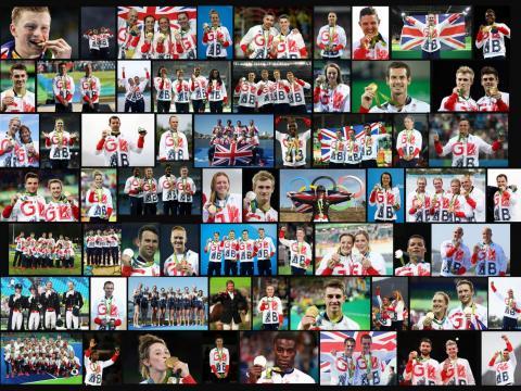 Team GB Rio winning Olympic team